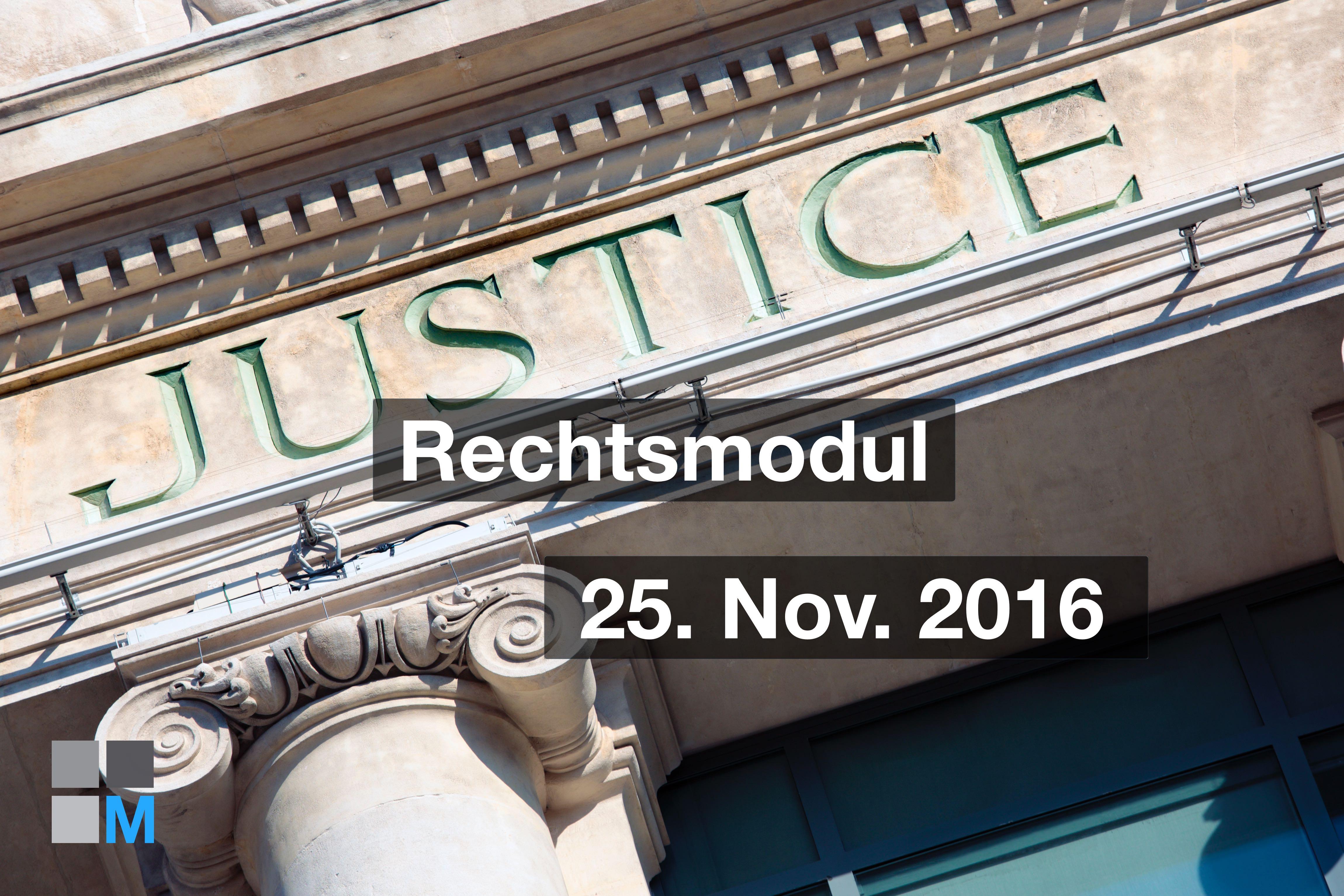 Rechtliche Fragen 2016